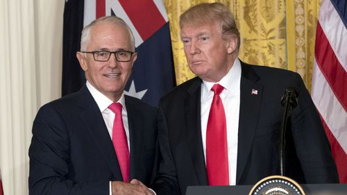 Malcolm Turnbull and Donald Trump.