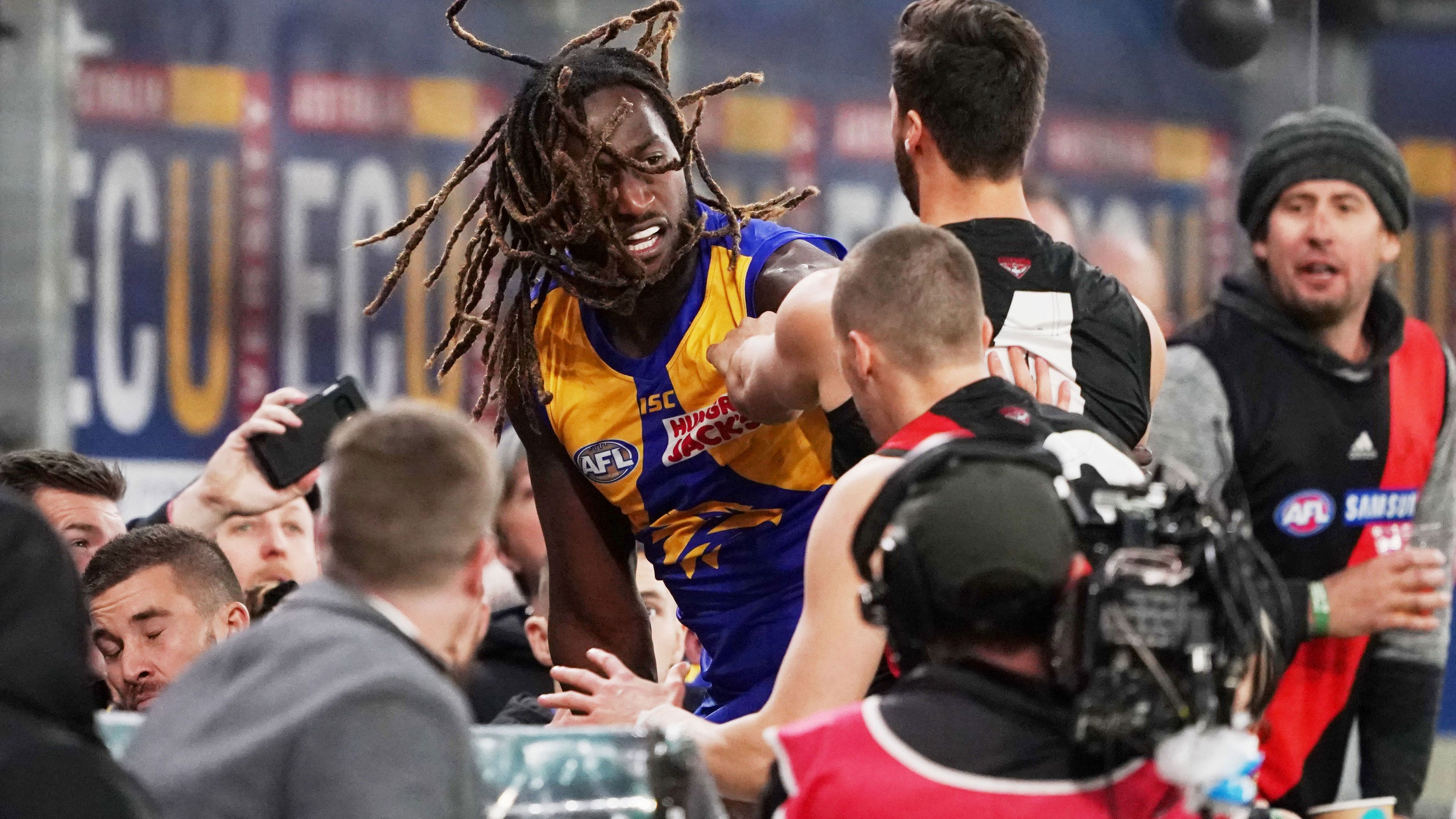 West Coast Eagles star Nic Naitanui warns opponents of potential future hair-pulling