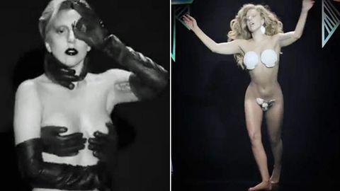 Lady Bra-ga! Gaga rocks hand-bra, shell-bra and becomes a swan in 'Applause' music vid