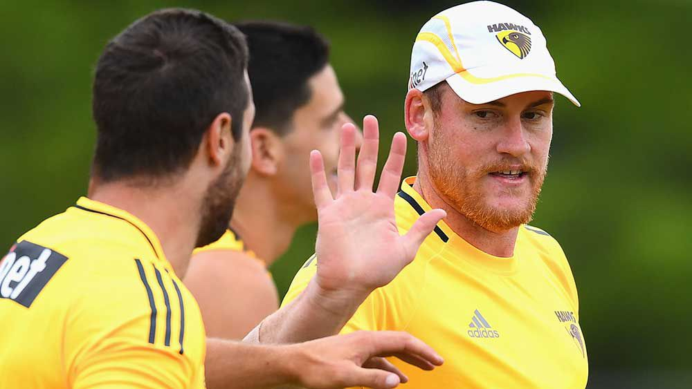 Jarryd Roughead is back in training after recovering from his battle with cancer. (Getty)