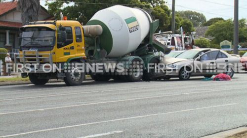 The 22-year-old driver suffered minor injuries. (9NEWS)