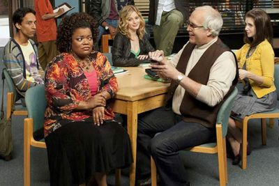 """<b>Now... </b>After two less-than-stellar decades, Chevy's bringing the funny once more, starring in cult-hit comedy <i>Community</i> as the racist, sexist, moist towelette tycoon, Pierce Hawthorne.<br/><br/>MusicFIX: <a href=""""http://music.ninemsn.com.au/slideshowajax/207137/80s-fashion-amazing-tragic-pop-style.slideshow"""">Amazing/tragic 80s fashion!</a>"""