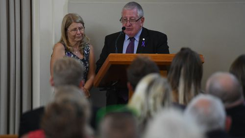 Faye and Mark Leveson remembered their son with love. (AAP)