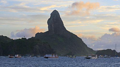 The Fernando de Noronha island in northeast Brazil.