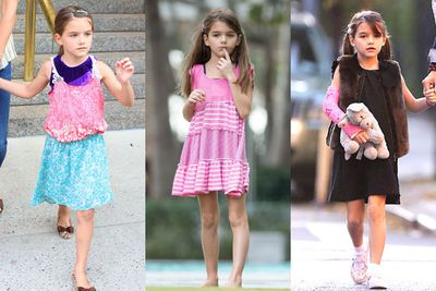 Hello Kitty and Chanel anyone? This seven-year-old has a quirkiness which sets her apart from the rest...perhaps she should give mum Katie Holmes some wardrobe help?<br/>