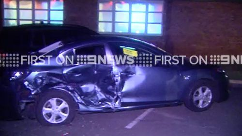 Six cars were damaged in the  car park of a Toowoomba church. (9NEWS)
