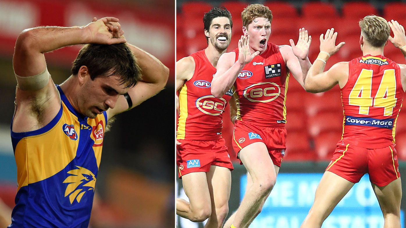 Young Gold Coast Suns stun West Coast Eagles to end epic AFL losing streak