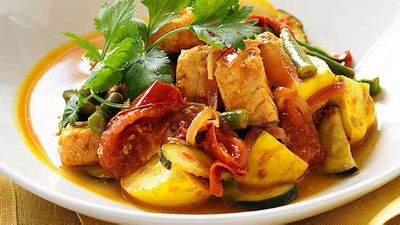 "Recipe:&nbsp;<a href=""http://kitchen.nine.com.au/2016/05/05/11/25/salmon-tamarind-and-tomato-curry"" target=""_top"">Salmon, tamarind and tomato curry</a>"