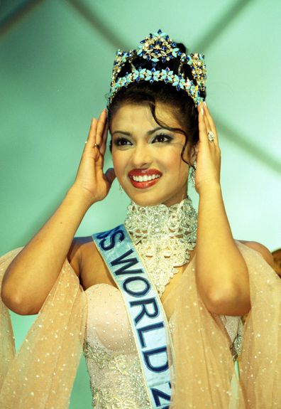 The winner of Miss World 2000, Miss India, Priyanka Chopra, 18, during the Miss World contest at The Millennium Dome in Greenwich.