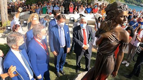 Statue sparks sexism row in Italy.