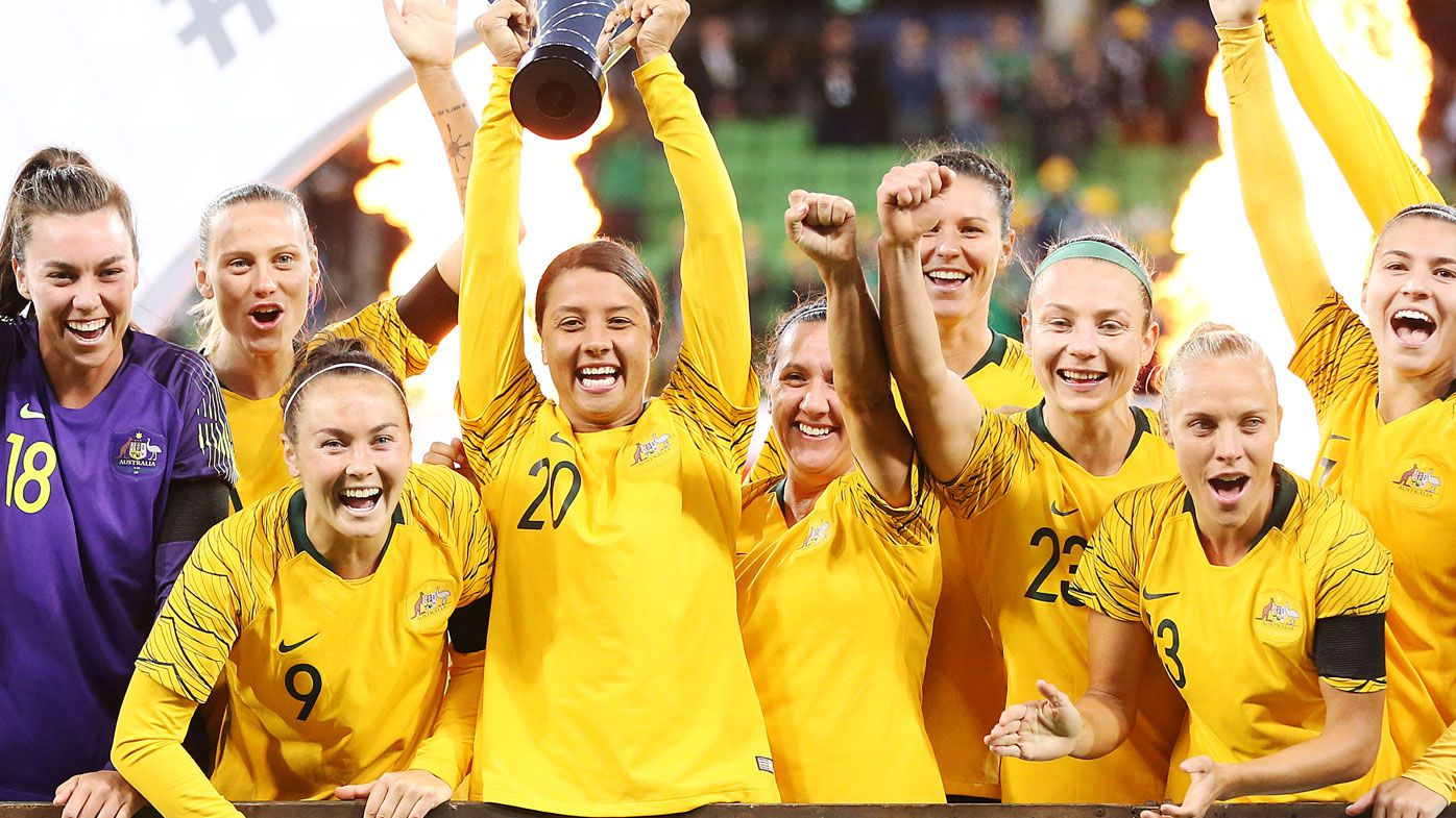 Sam Kerr's Matildas claim Cup of Nations