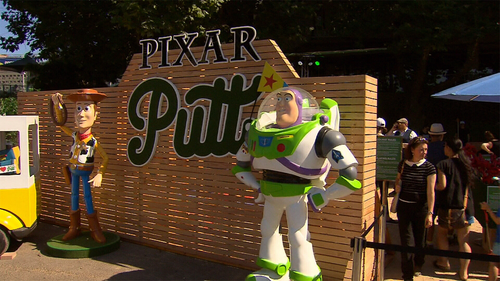 18-hole Pixar Putt has taken over Melbourne's Federation Square.