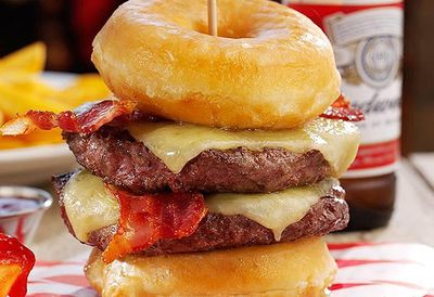 Hungry Horse Donut Burger