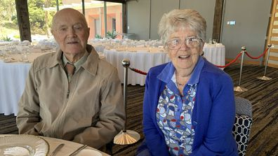Ron and Daisy on their 72nd wedding anniversary celebration.