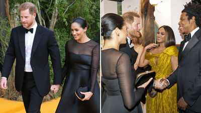 The Duke and Duchess of Sussex at the Lion King premiere in London, July 2019