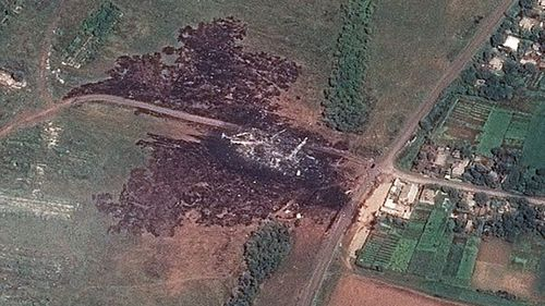 Aerial images lay bare MH17 disaster