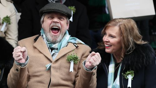 Star Wars actor Mark Hamill enjoys St Patrick's Day parade in Dublin (AAP)