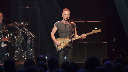 Sting performs at the Bataclan. (AAP)