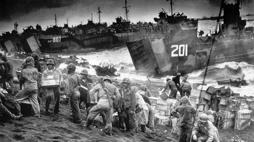 Iwo Jima was one of the bloodiest battles of the Pacific Theatre.
