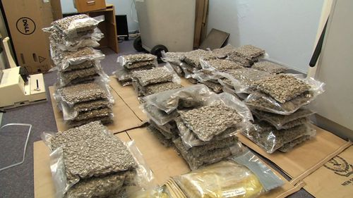 Among the haul was 45kg of cannabis. (NSW Police)