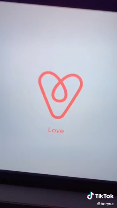 Airbnb logo hidden meaning of 'love'