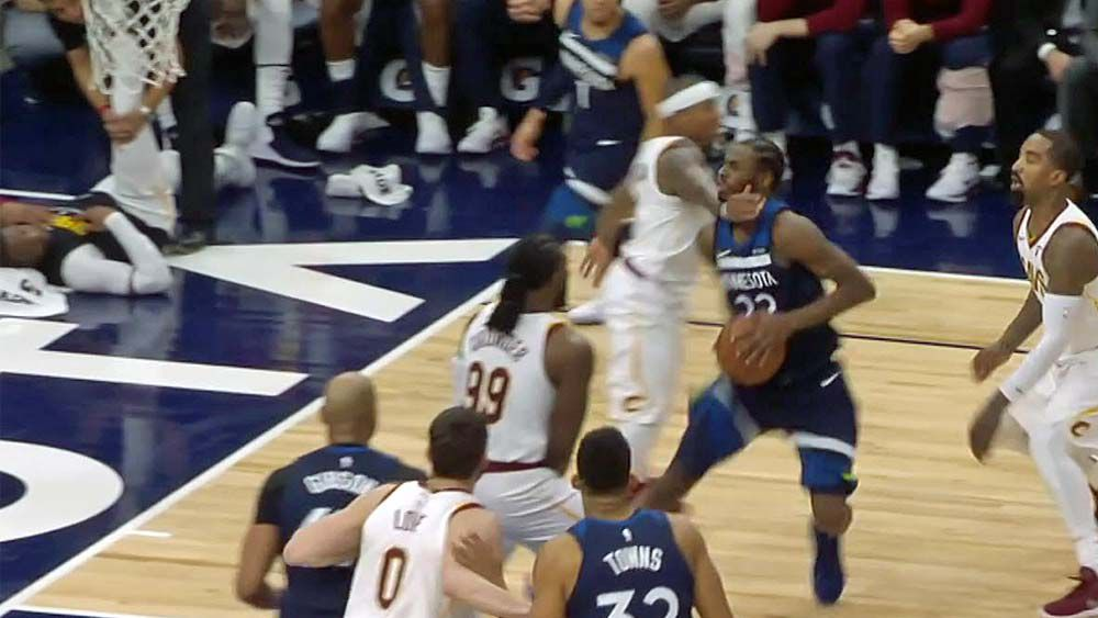 Isaiah Thomas clotheslines Andrew Wiggins - fined $20,000 by NBA