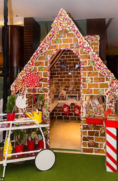 Walk-in gingerbread house at the Shangri-La Hotel, Sydney, Australia