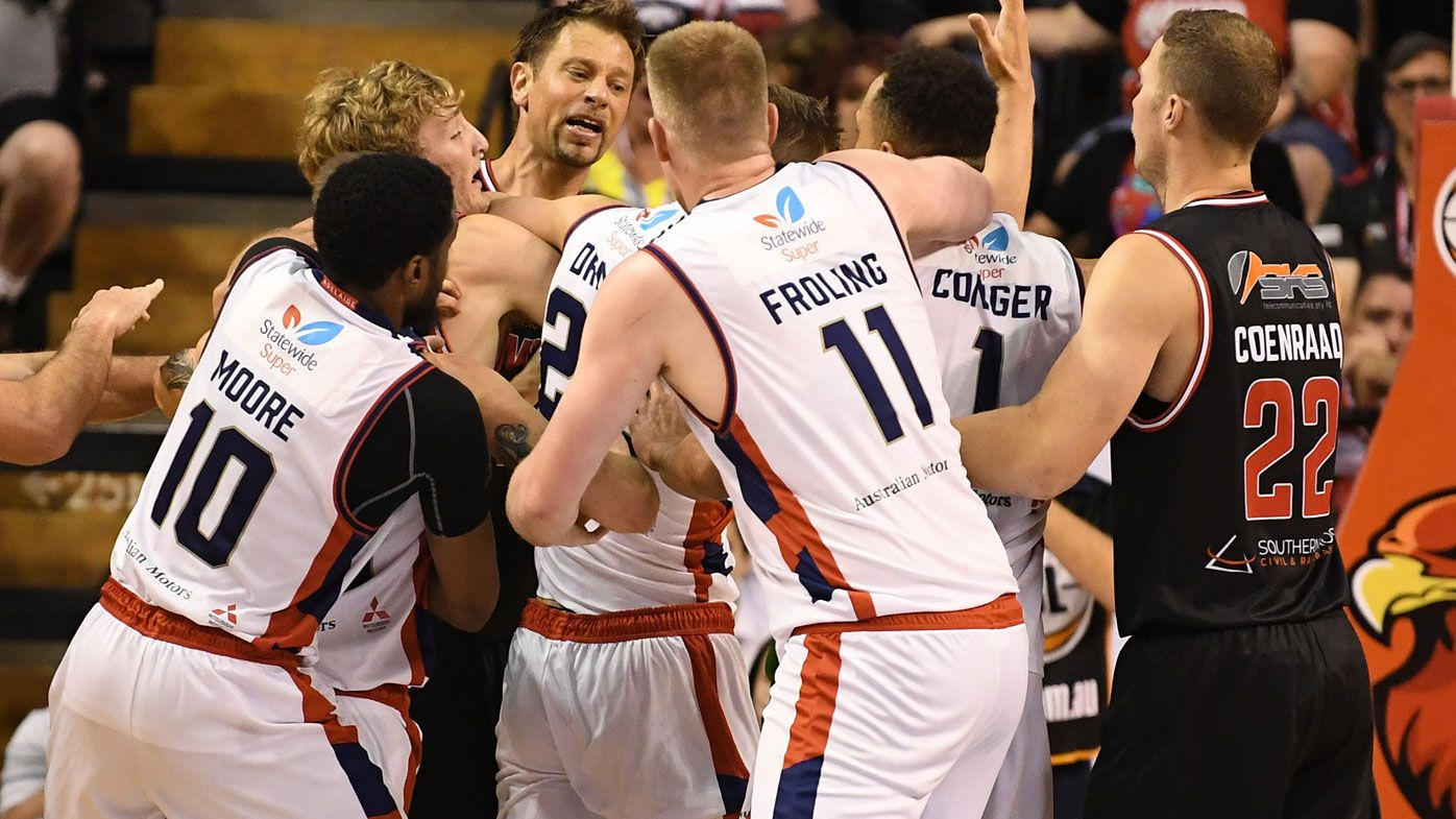 NBL: Three ejected in Illawarra Hawks' heated victory over Adelaide 36ers