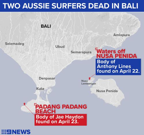 The incident marks the second death of an Australian surfer in Bali in under a week. Picture: 9NEWS.