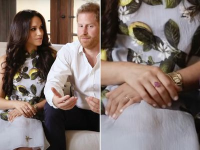 Meghan's pink sapphire cocktail ring