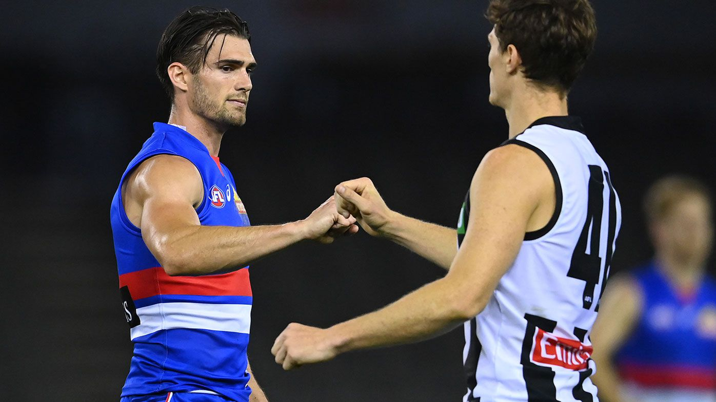 Bulldogs fall to the Magpies amid the AFL's coronavirus protocol. (Getty)
