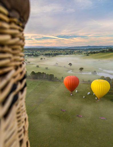 Take a hot air balloon ride over the Gold Coast Hinterland