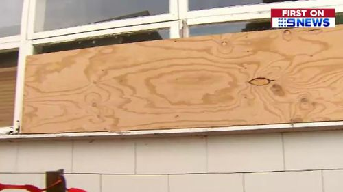 Boarded up walls at the school are set to be a thing of the past as a result of the $6.3 million donation. (9NEWS)