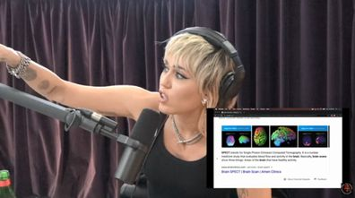 Miley Cyrus, Billy Ray Cyrus,  biking accident, brain injury, Joe Rogan Experience, podcast