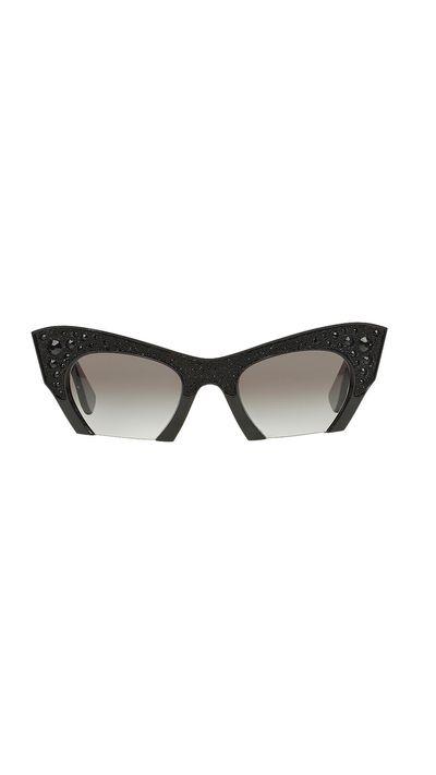 "<a href=""http://www.sunglasshut.com/au/8053672336962"" target=""_blank"">Sunglasses, $520, Miu Miu at Sunglass Hut</a>"