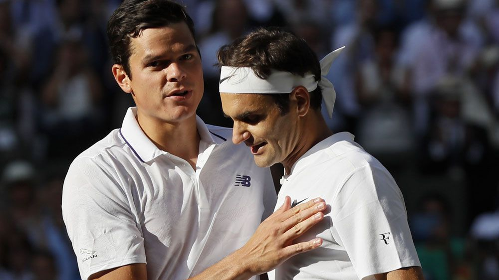 Roger Federer homes in on eighth Wimbledon crown after defeating Milos Raonic