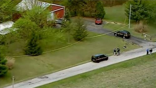 Three children - an infant, a five-year-old and another three-year-old, were all found unharmed.
