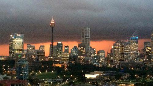 An ominous Sydney skyline. (Twitter - @drkerrynphelps)