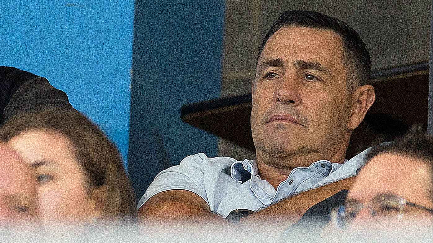 Shane Flanagan watches the Sharks' trial match