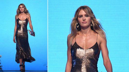 Model Jesinta Franklin wears an outfit by Bianca Spender. (AAP)
