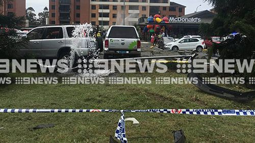 Seven NSW Ambulance crews are responding to reports the truck lost control and careered into the car park of a McDonalds at Fairy Meadow, on the Princess Highway.