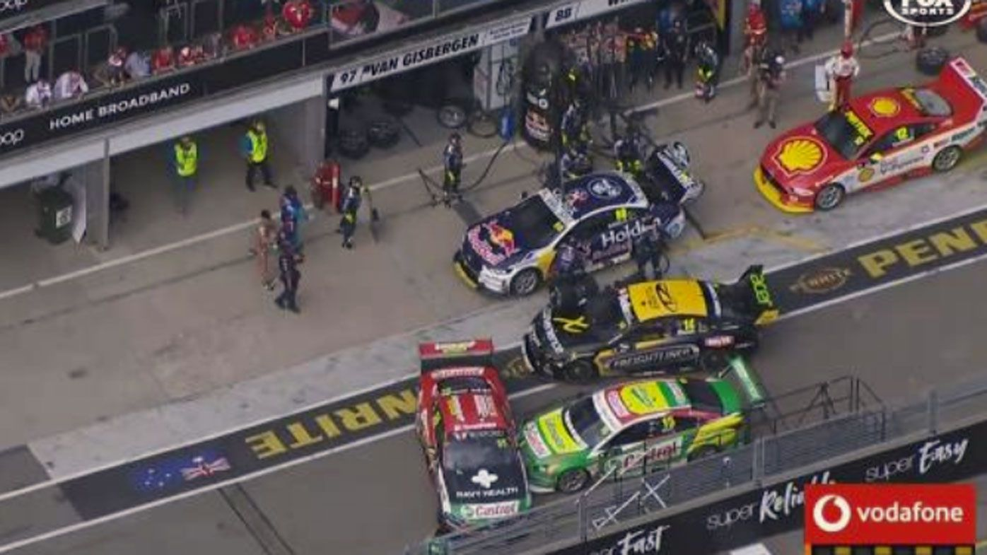 Supercars to trial new rule following Adelaide pitlane mayhem