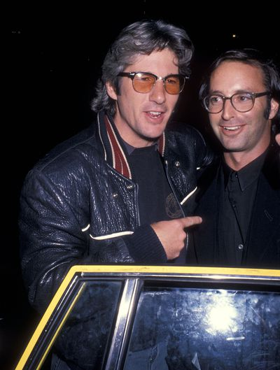 Actor Richard Gere and photographer Herb Ritts at the <em>Imagine: John Lennon</em> premier party on October 6, 1988 in New York