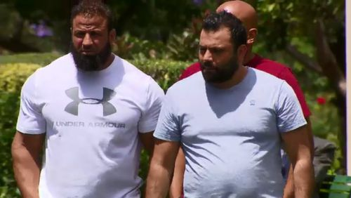 Jihad Darwiche's father Raed (right) attended the funeral with close family friend Ahmad Hraichie.