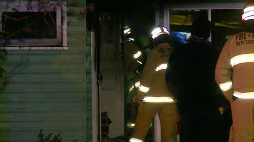 Fire crews managed to contain the blaze, which is believed to have started in a laundry. Picture: 9NEWS.