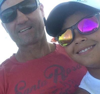 Jason De Lisle with his son, Jackson, 13.