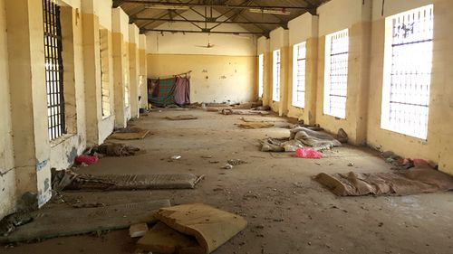 A deserted cell in the public section of Aden Central Prison is shown in this May 9, 2017 photo in Aden, Yemen (AAP)