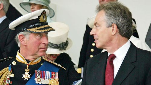 Prince Charles with former British Prime Minister Tony Blair in 2007. (Getty)