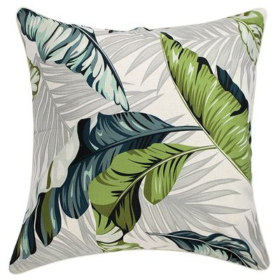 """Outdoor Coco cushion cover $79.95, <a href=""""http://www.escapetoparadise.com.au/tropical-range/"""" target=""""_blank"""">Escape to Paradise</a>."""