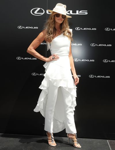 Supermodel Elle Macpherson at Melbourne's Derby Day, 2018